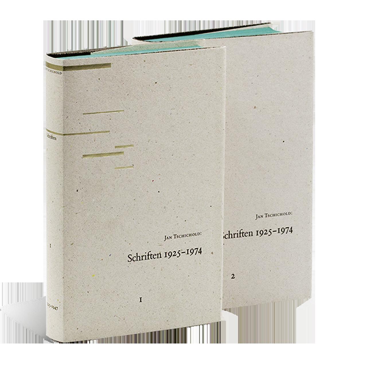 Gestaltung von Tschichold: Schriften 1925 – 1974. Band 1