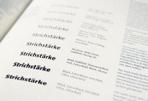 Gestaltung von Wegweiser Schrift