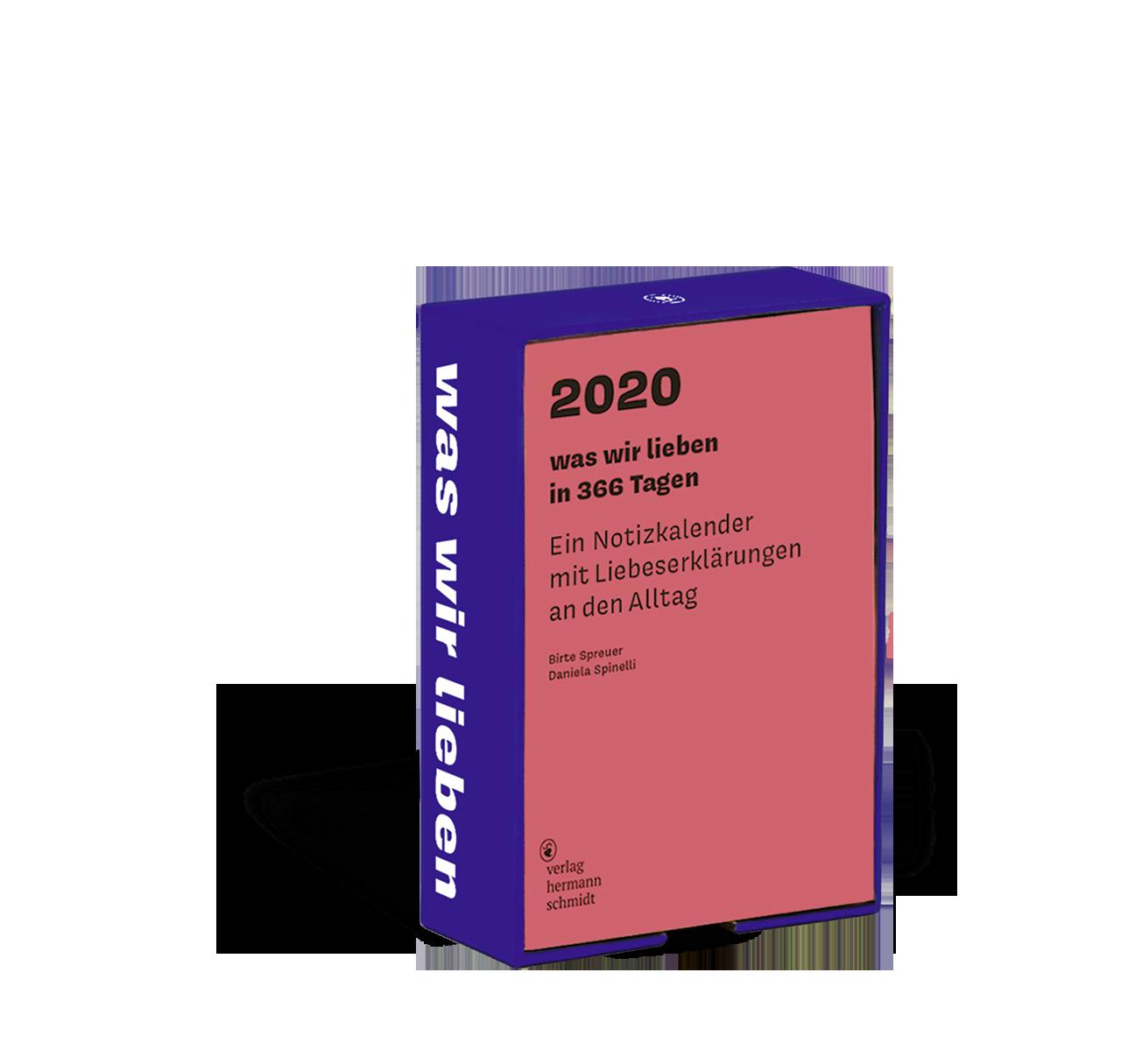 Cover Was wir lieben Kalender 2020