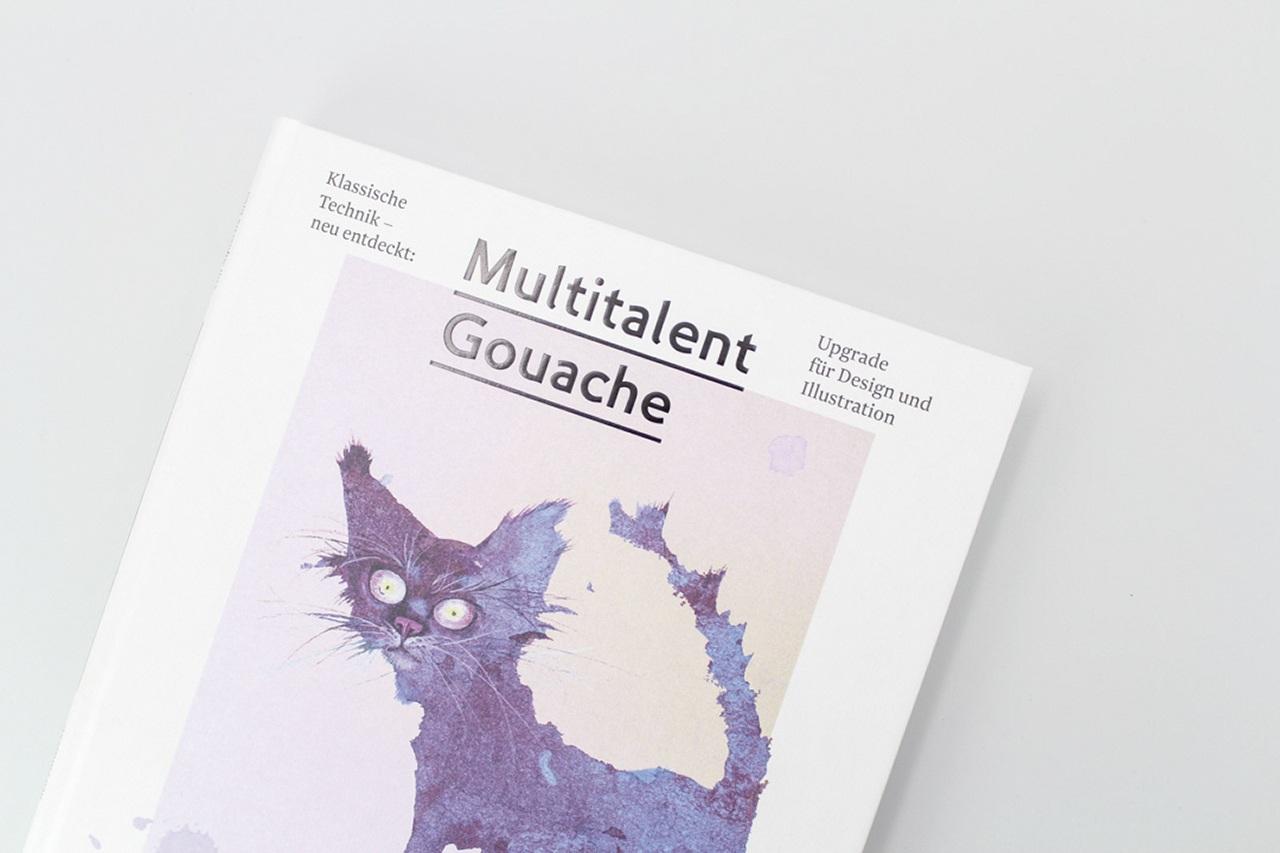 Detailansicht der Gestaltung von Multitalent Gouache
