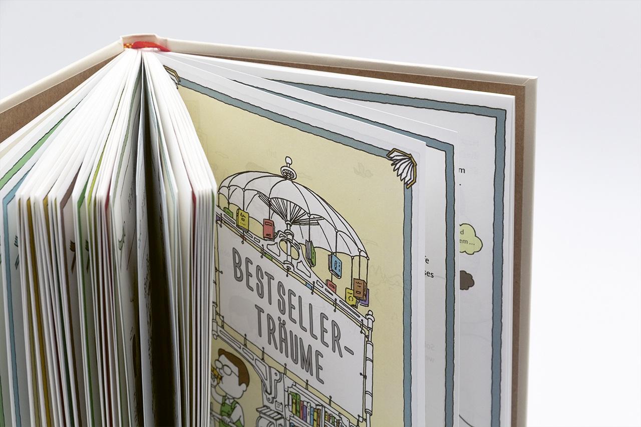 Detailansicht der Gestaltung von Die Buchhandlung der Wünsche