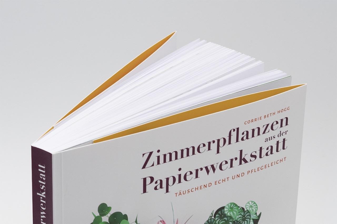 Gestaltung von Zimmerpflanzen aus der Papierwerkstatt