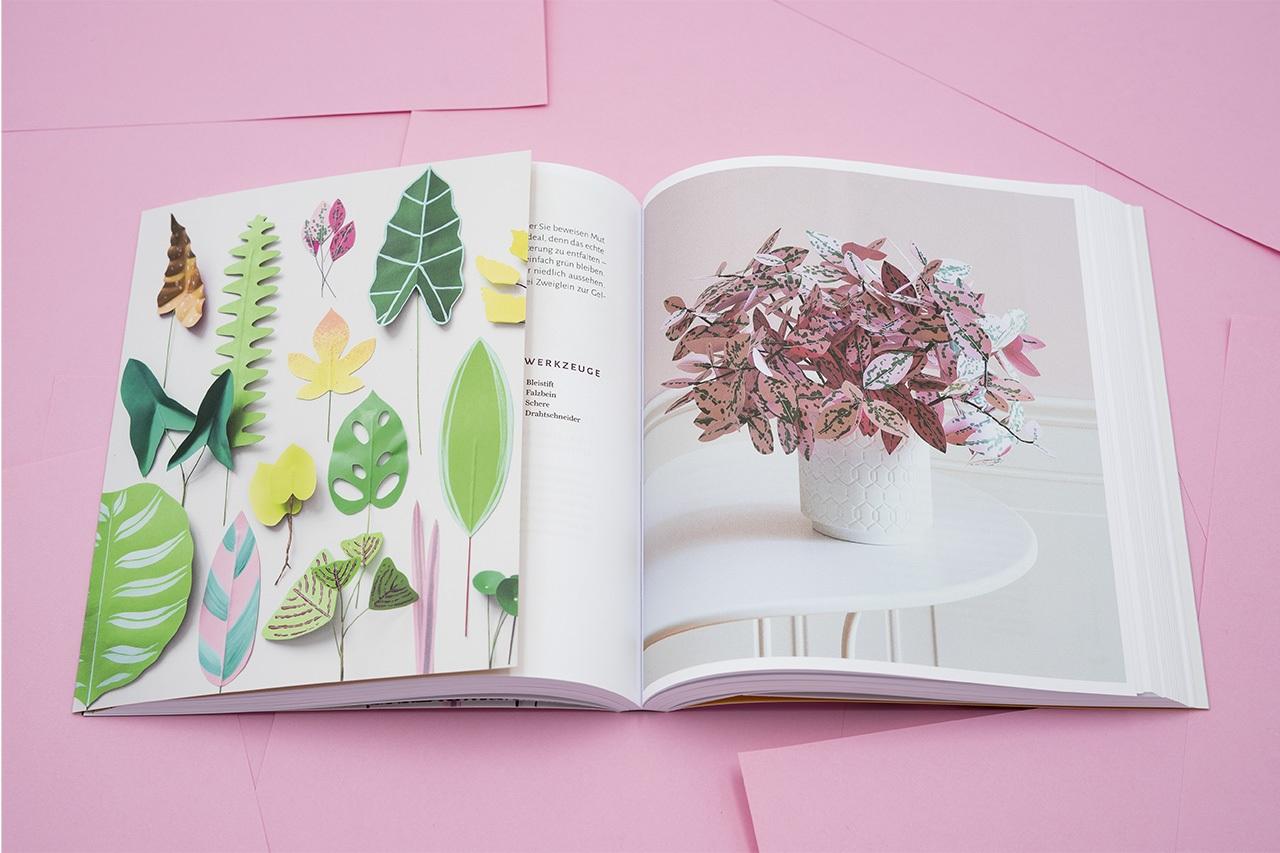 Beispielseite aus Zimmerpflanzen aus der Papierwerkstatt