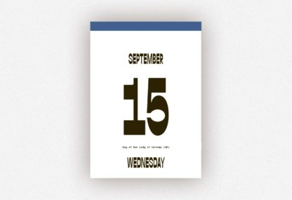 Beispielseiten aus dem Typodarium Kalender 2021