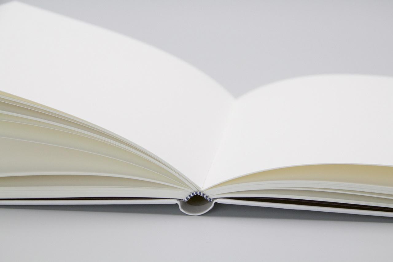 Detailansicht der Gestaltung vom Notizbuch Gouache