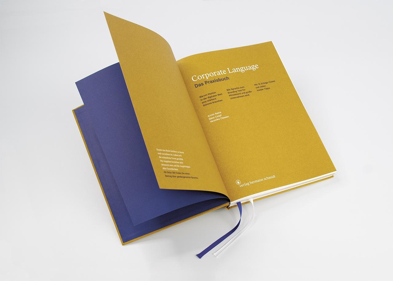 Detailansicht der Gestaltung von Corporate Language