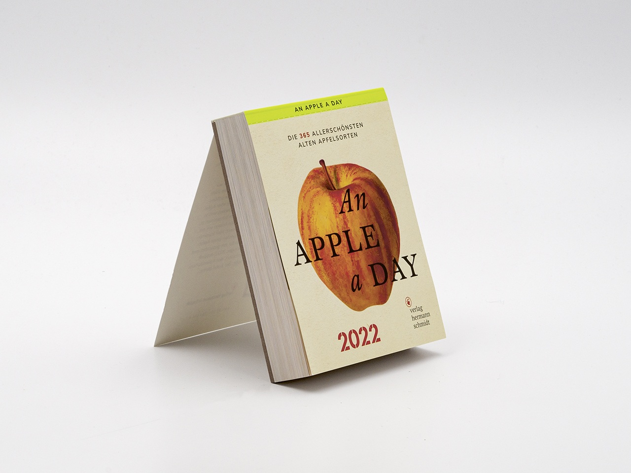 Vollansicht vom Kalender An Apple A Day 2022