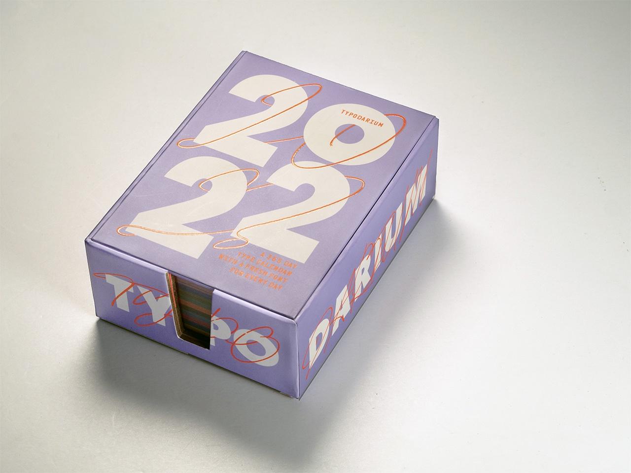 Gestaltung vom Typodarium Kalender 2022