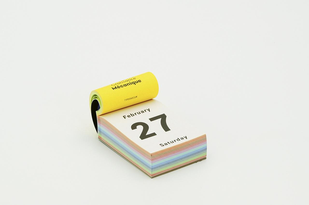 Detailansicht zum Typodarium Kalender 2021