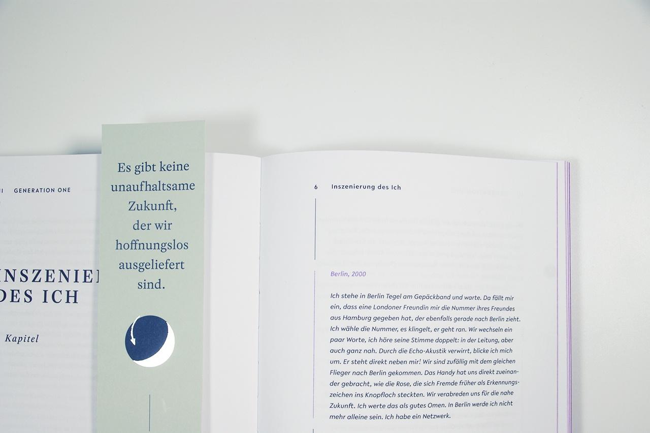 """Detailabbildung zu """"Wir Internetkinder"""" von Julia Peglow: Innenseite mit Lesezeichen"""