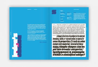 Innenansicht von TDC 41 mit Beispielen von Typographie