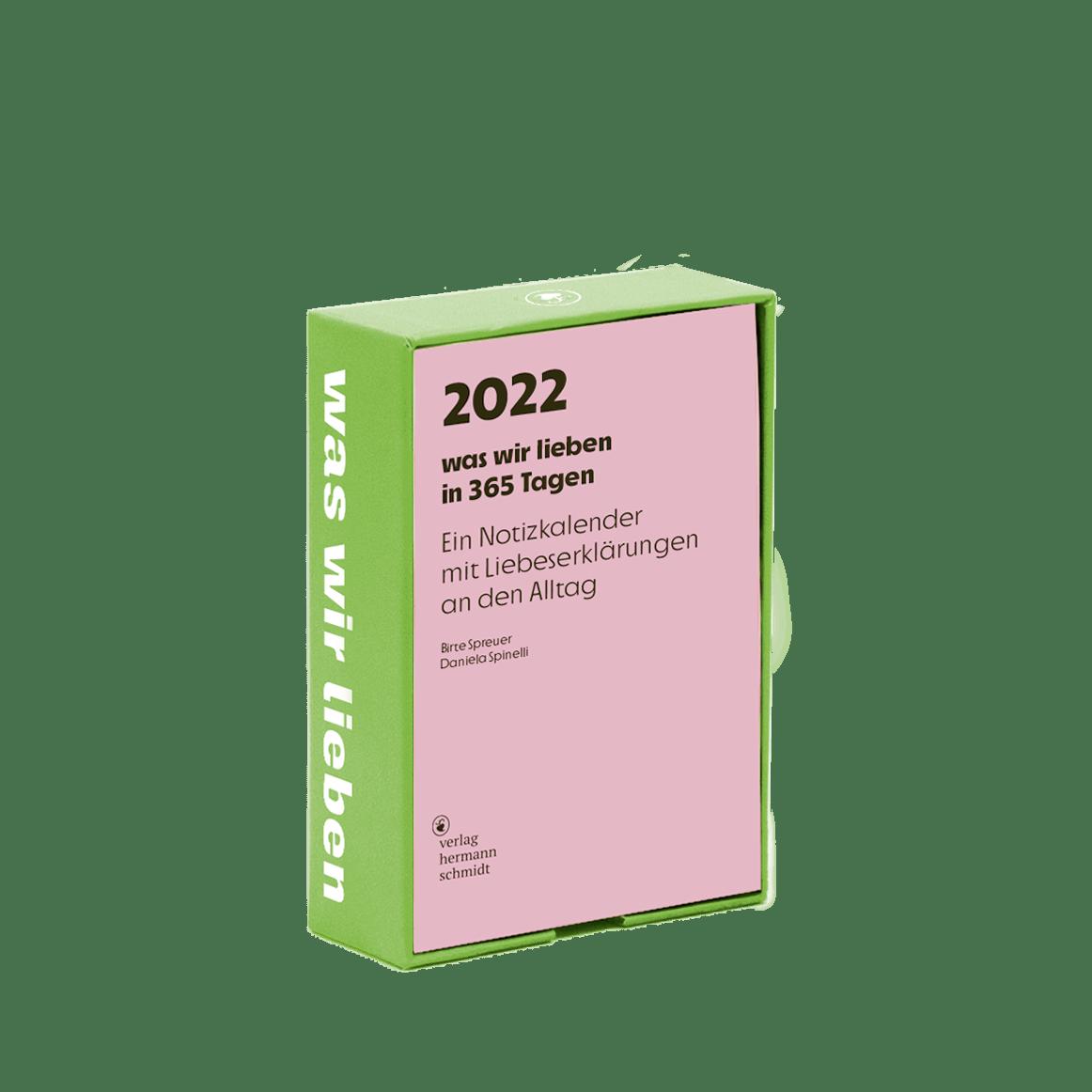 Cover was wir lieben Kalender 2022